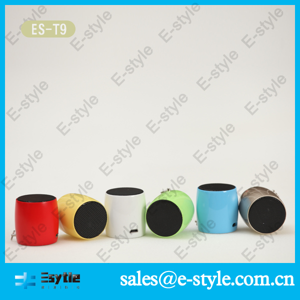 2014 new China Alibaba colorful wireless portable bluetooth cara membuat speaker aktif mini with microphone