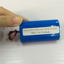 Customize Rechargeable Li ion Battery 18650 7.4v 2000mah Lithium battery pack