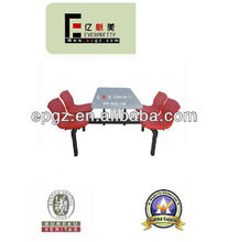 Fiberglass Canteen Table and 4Chairs Used College School/University Design/Restaurant Furniture