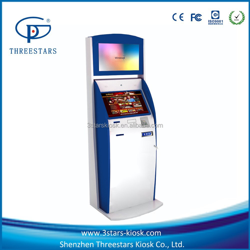 casino/lottery 19inch touch screen vending machine/bill acceptor payment kiosk