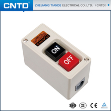 CNTD Power Pushbotton Switch On-off With Black And Red Button Switch Box 15A 2.2KW