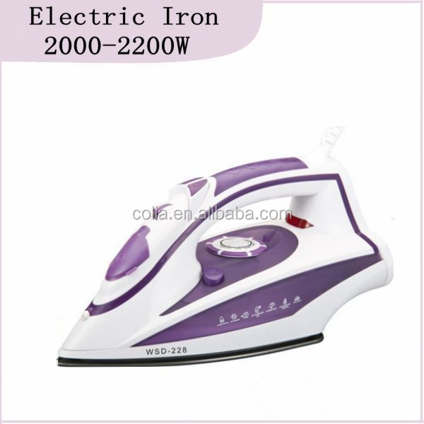 Vertical Dry Spray Vertical Steam Burst Steam Function High Quality Steam Iron 2000-2200W (HK-228)