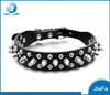 fashionable diamante studded pu leather pet collar