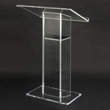 Clear Acrylic Furniture Plexiglass Podium Pulpit for school use