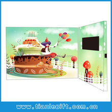 2014 new 5inch lcd greeting/ invitation video card for business and holiday-red print