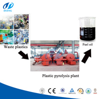 Tire recycle continuous waste tire/plastic pyrolysis plant crude oil refinery equipment
