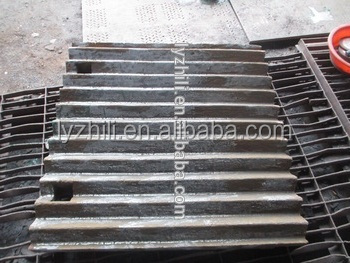 casting high manganese steel fixed jaw plate