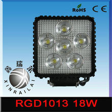 ip68 6500k white/red/yellow/blue/green 9-32v 18w 4wd led working bar light RGD1013 for offroad auto motorcycle atv suv