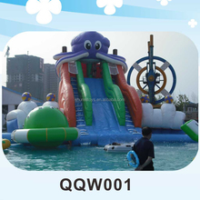 SHUREN Outdoor inflatable bouncy castle playground with water park slide on sale