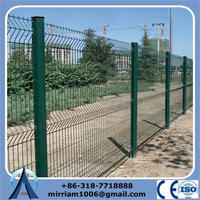 High quality durable hot dipped/electric galvanized/PVC coated yard guard welded wire fence