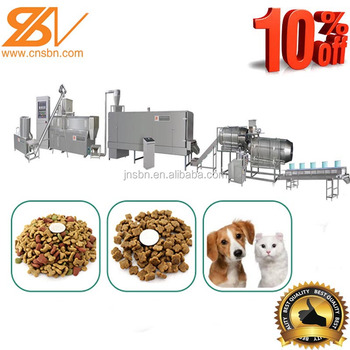 Full-auto Twin screw extruder for pet food extrusion