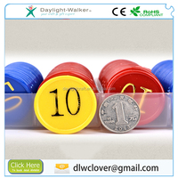 Custom colorful plastic board game tokens coin