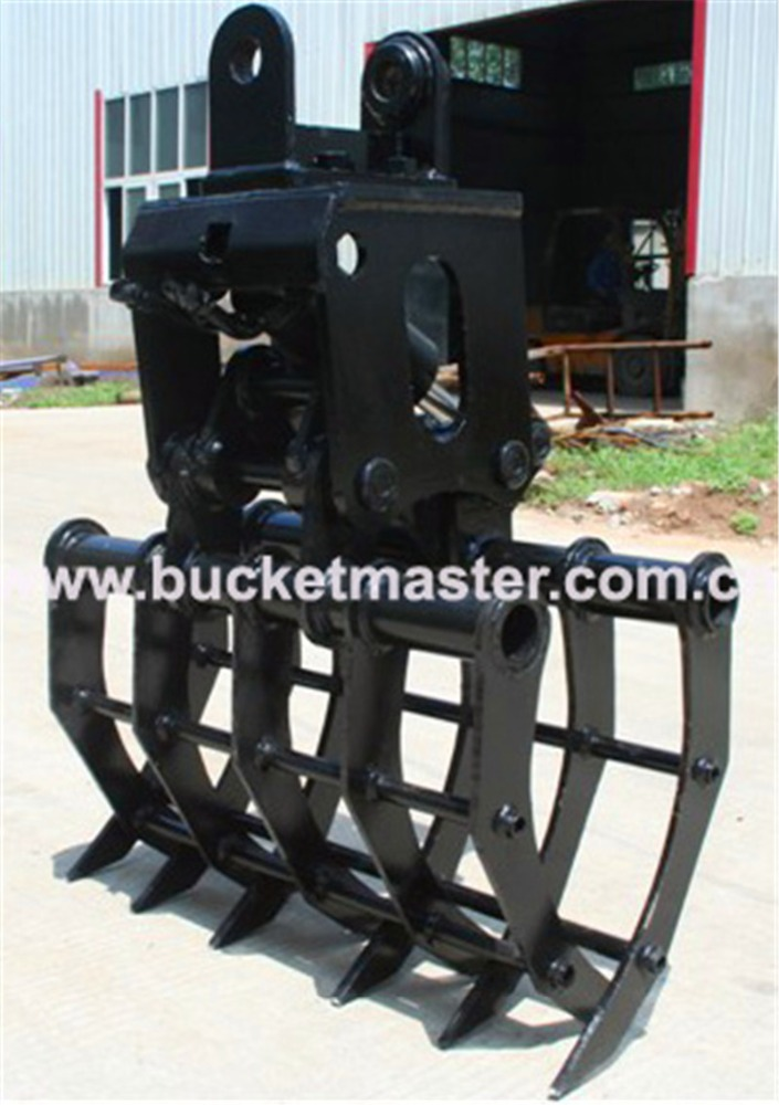Varied Design Wear-resistance HARDOX-500 NM400 Material hydraulic wood grapple