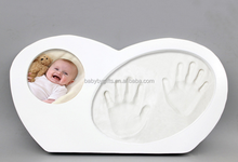 New design baby modelling clay photo frame toys wood