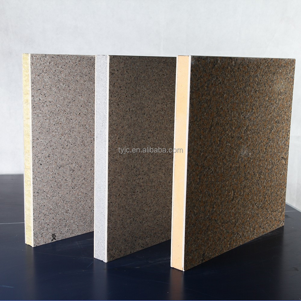 External insulation facade decoration cladding fiber cement sanwich Wall panel