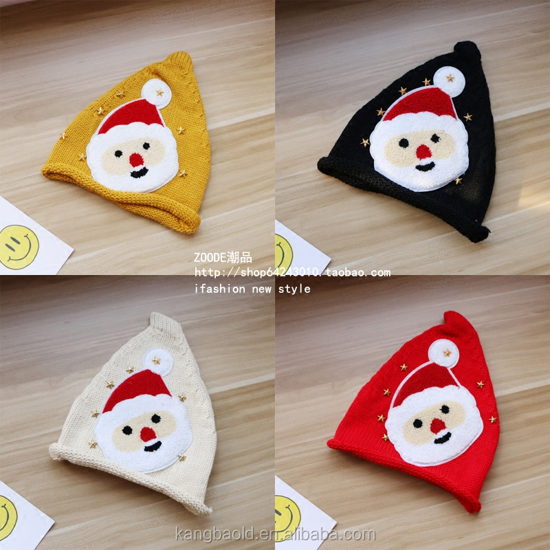 2017 best sell beanie christmas snowman hat knitted cotton OEM soft hat
