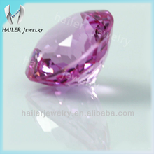 hot sale synthetic pink color round shape for cz