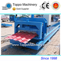 Automatic Glazed Color Coated Steel Roofing Tiles Roll Former for Metal Building