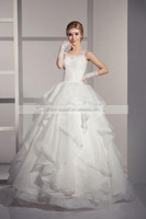 JPSKIRT1506035 Hot Sale Sweet Backless Ball Gown Flared Wedding Dress