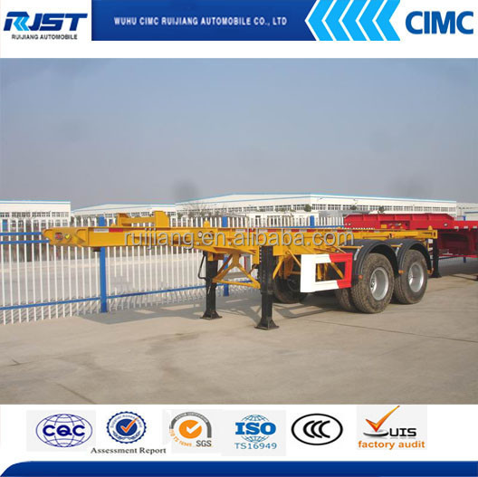 Hot sale 40ft /20ft skeletal container semi trailer