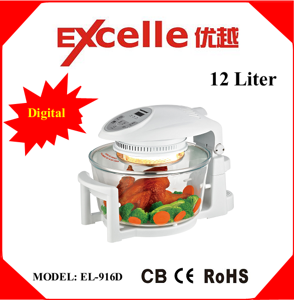 12L Home Kitchen Appliances Electric Digital Halogen Convection Oven
