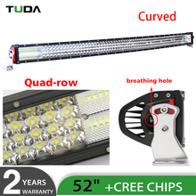 Wholesale 52 inch Curved LED Light Bar,Waterproof IP68 924w Bent Offroad aurora 8d 4 rows car led working light bar