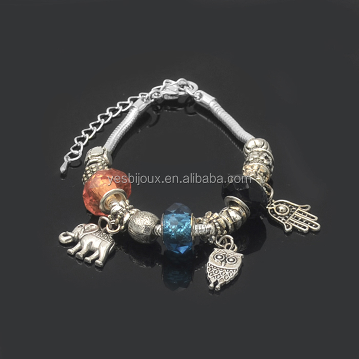 wholesale mixed lots jewelry crystal cheap glass beads bracelet