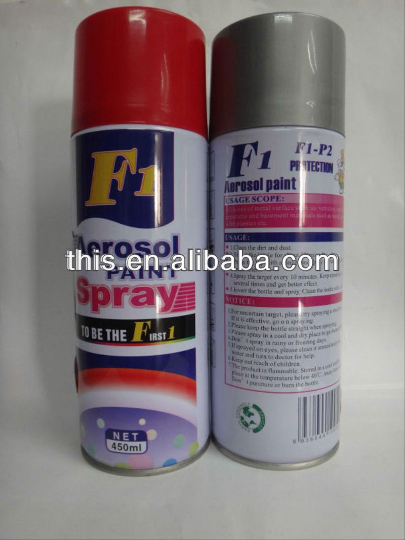 450ml ISO9001 F1 list of paint manufacturers