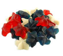 oil coated star shaped starfish gummy jelly candy