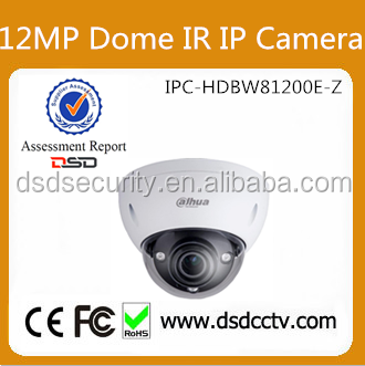Alibaba Recommend DH-IPC-HDBW81200E-Z 4K 12MP Vandal-proof Dome IR IP Nework Dahua Camera For Project