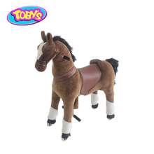 rocking horse ride on toy riding horse on wheels for kid and adult