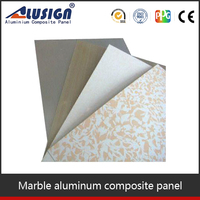 Alusign imitation stone interior and exterior ACP wall cladding for 4mm acm panel
