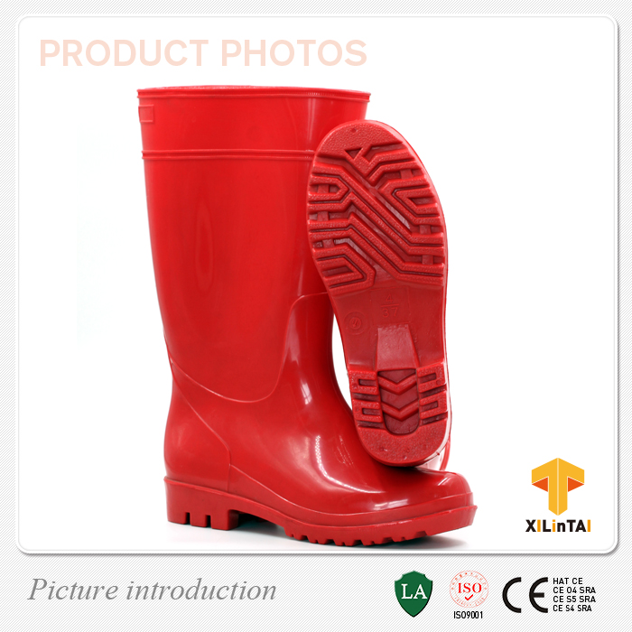 Red Waterproof Ourdoor PVC Rain Boots