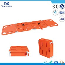 YXZ-D-1A2 4 fold/folding plastic/pp emergency rescue spine/spinal board stretcher