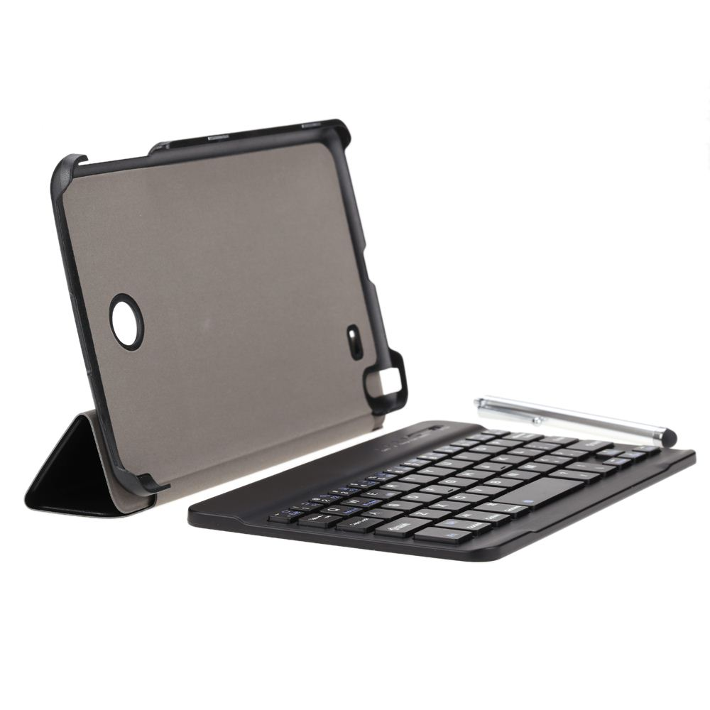 Ultrathin Wireless Bluetooth Keyboard with Foldable Magnetic PU Leather Case Cover Stand Holder and Stylus Pen for LG G Pad 8.0