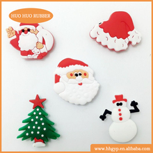 Wholesale Kids Cartoon Christmas Tree Cap Snowman Novelty Silicone Fridge Magnet