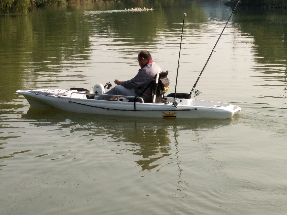 New single foot pedal kayak with rudder for steering for Fishing kayak with foot pedals