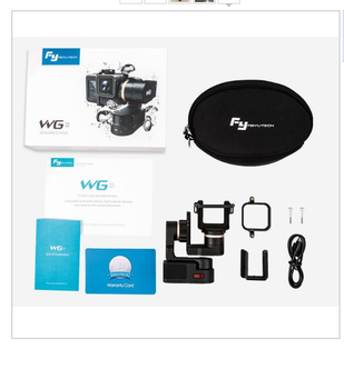 FeiyuTech WG2 PRO Edition Waterproof Wearable Gimbal for Action Cameras GoPr o 5 4, 3, AEE Yi 4k