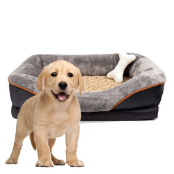 Solid Pet Bed large breed dog bed memory foam dog bed factory supply Removable Washable Cover