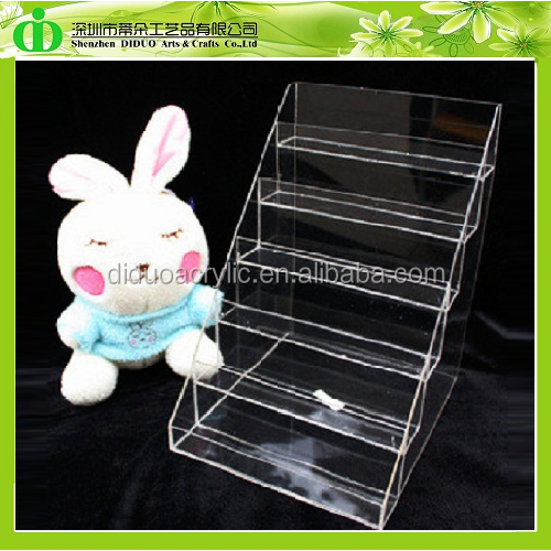 DDN-0003 Wholesale 6 Tiers Clear Acrylic Nail Polish Display Rack,Display Stands Nail Polish Rack,Essie Nail Polish Display Rack