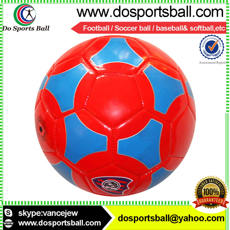 SGS -approved pvc cover rubber bladder football machine sewn soccer ball
