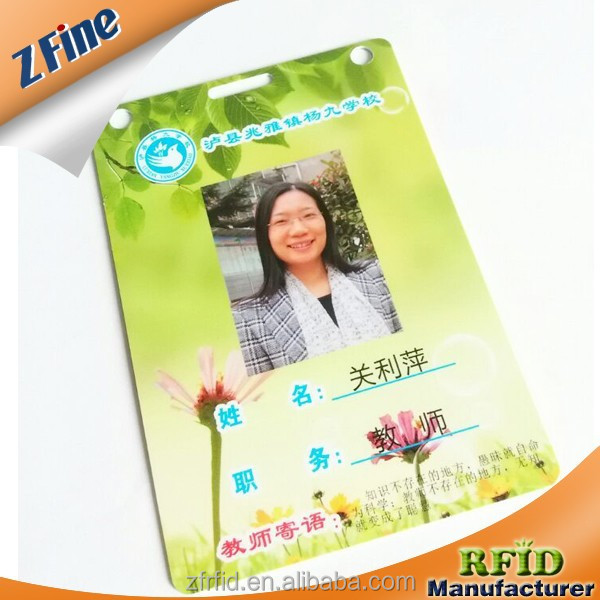 Hot Sell Custom School Teacher Photo Editing Smart ID Card
