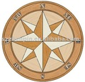 hardwood compass medallion parquet marquetry a
