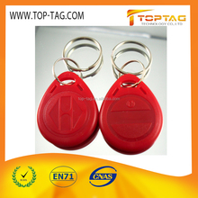 ISO7815 125KHZ RFID keytag for door access system/smart key tag for hotel
