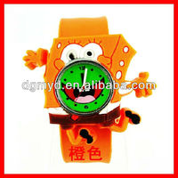 Newest silicone wrist korea mini watch for Children