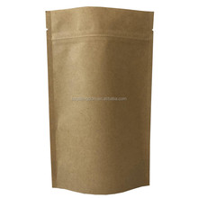 Food grade resealable bags with zipper customised packaging bag kraft paper pouch loose tea packaging