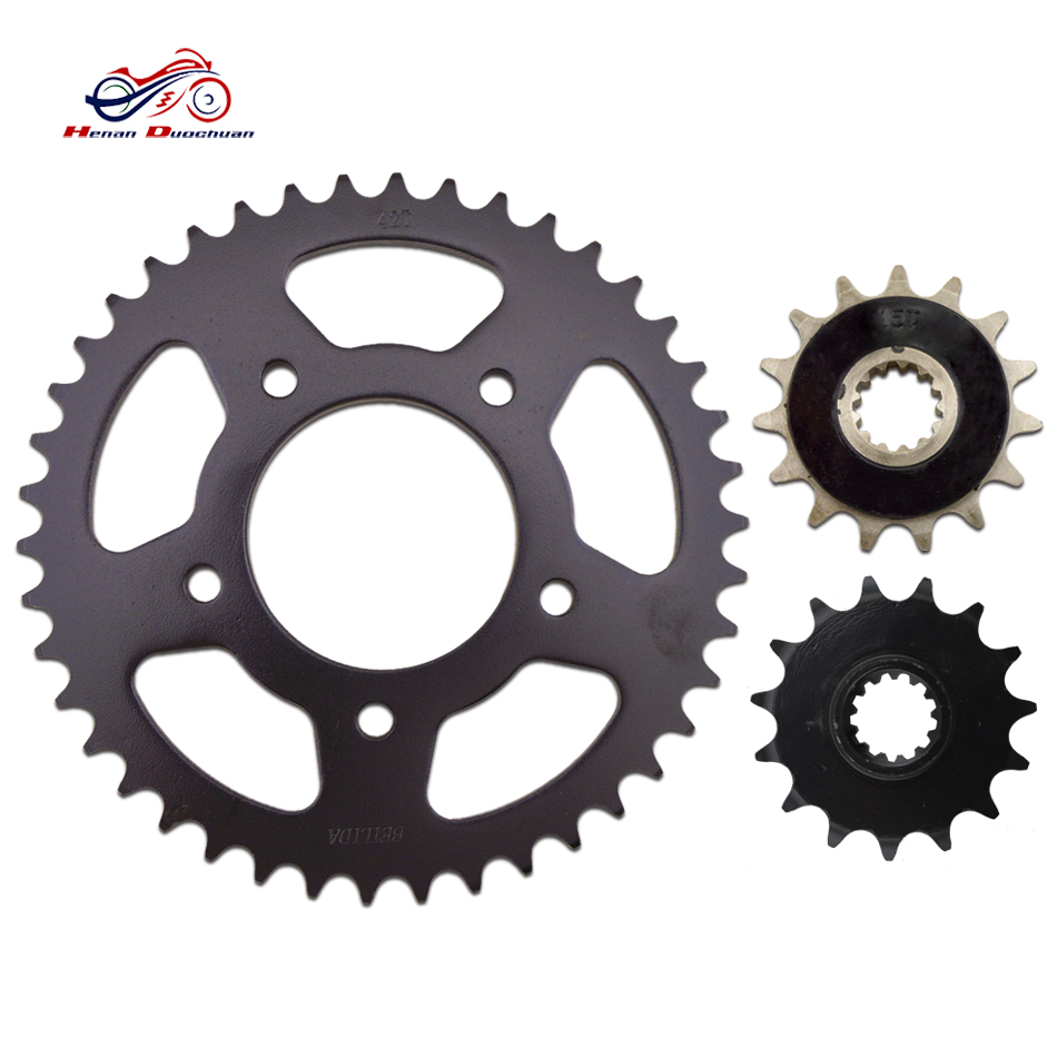 motorcycle chain and sprocket kits price CB400 NC23 rear and front sprocket