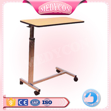 BDCB21 material Height adjustable 4 wheels over bed laptop tables hospital eating tables
