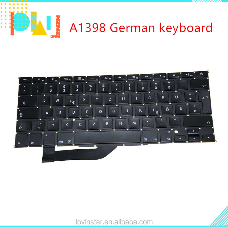 "Factory Price Laptop Replacement German Keyboard For Apple Macbook Pro Retina 15"" A1398 2013-2016"