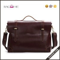 brown leather laptop bag business briefcase for sale